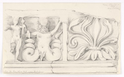 Study of frieze, inscribed: 'from the Kantara Hill near Peshawar. Lahore Museum'